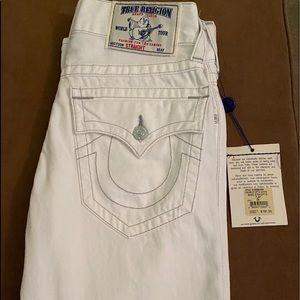 New! True Religion jeans - white basic straight